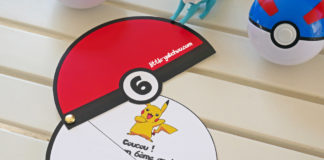 Tuto invitation Pokeball pour anniversaire Pokemon