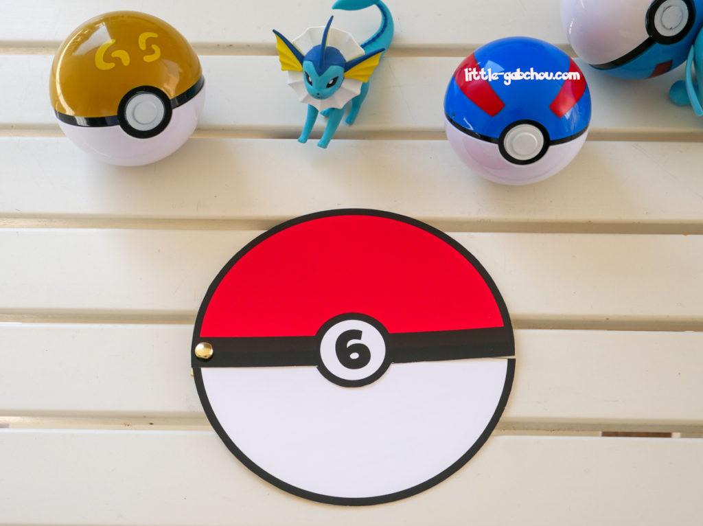 Tuto créer une invitation Pokeball pour un anniversaire enfant sur le thème des Pokemon