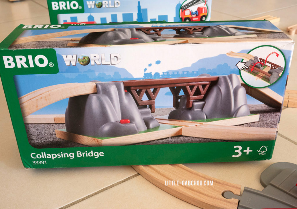 éléments de circuits Brio World le pont catastrophe
