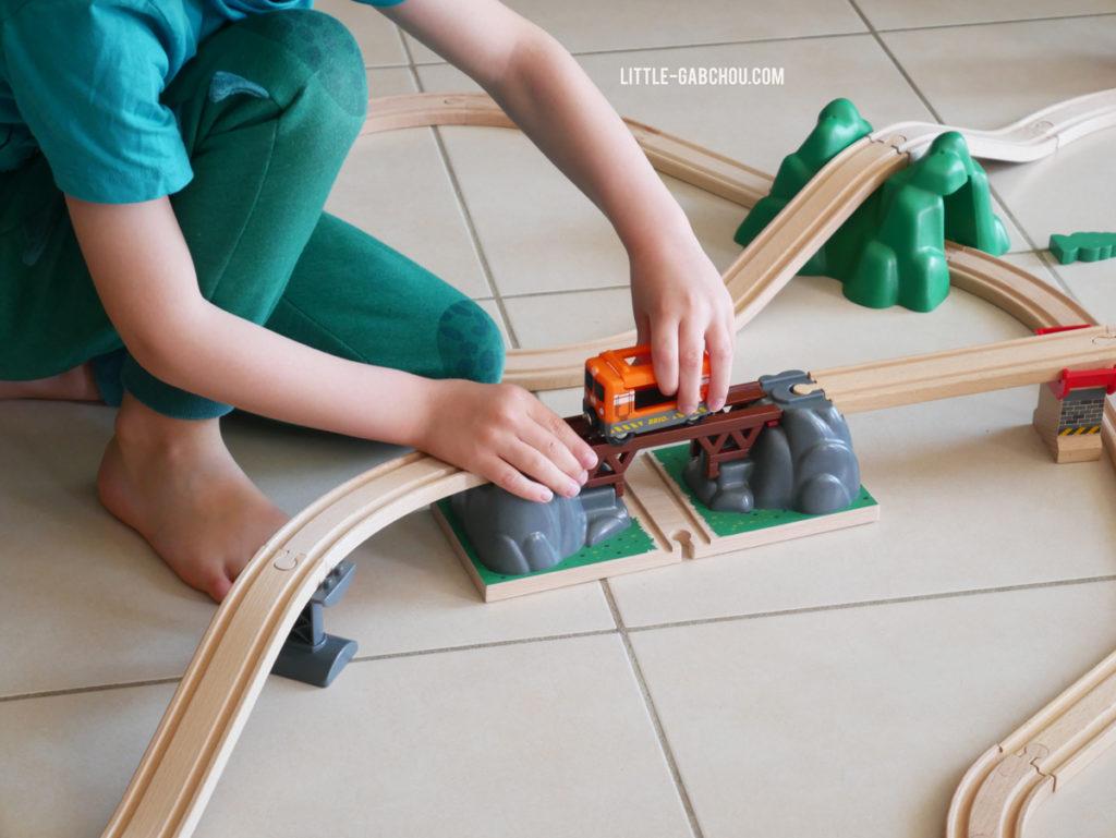 circuits en bois naturels pour enfants