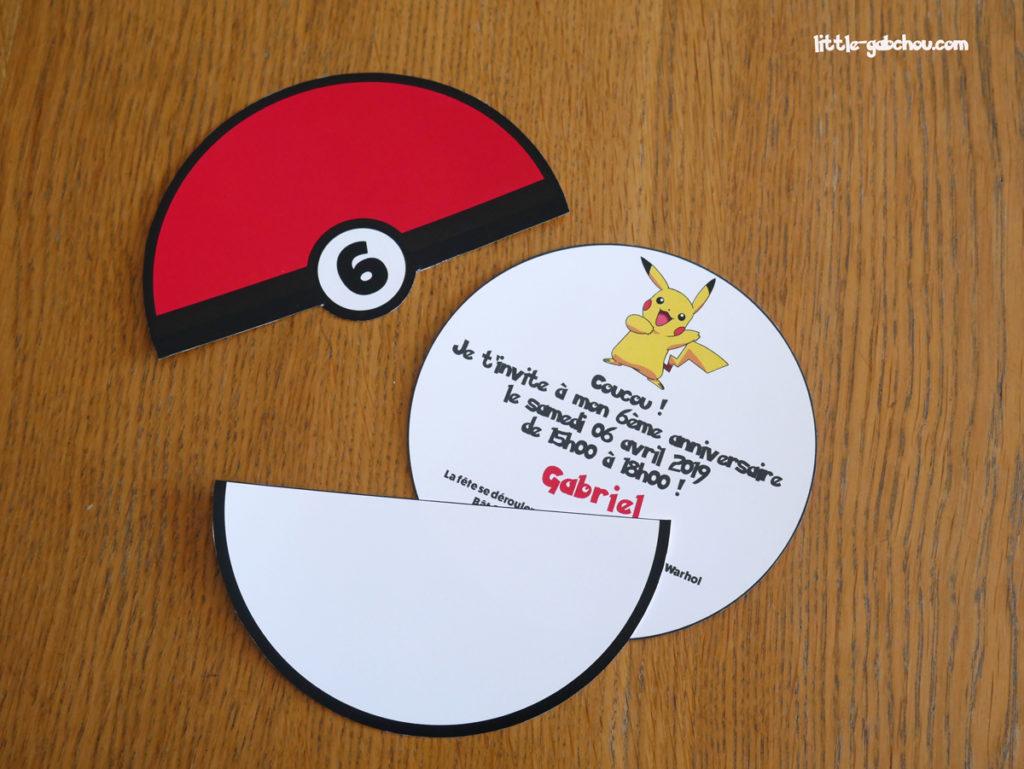 tuto invitation d'anniversaire Pokemon