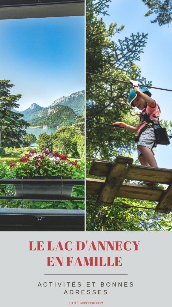 Le lac d'Annecy en été, que faire et voir en famille