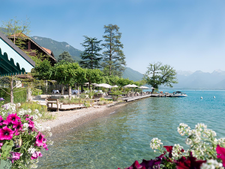 plage de Talloires lac d'Annecy