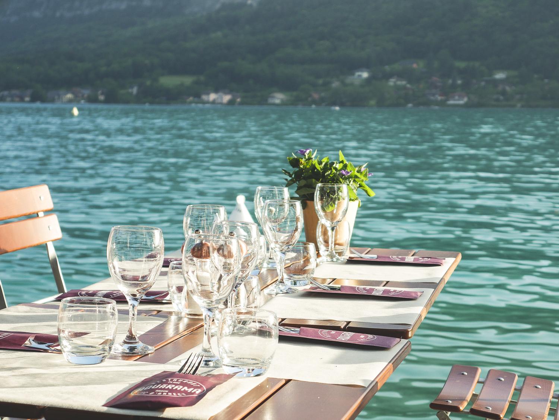 Bonnes adressses près d'Annecy le restaurant Aquarama à Talloires