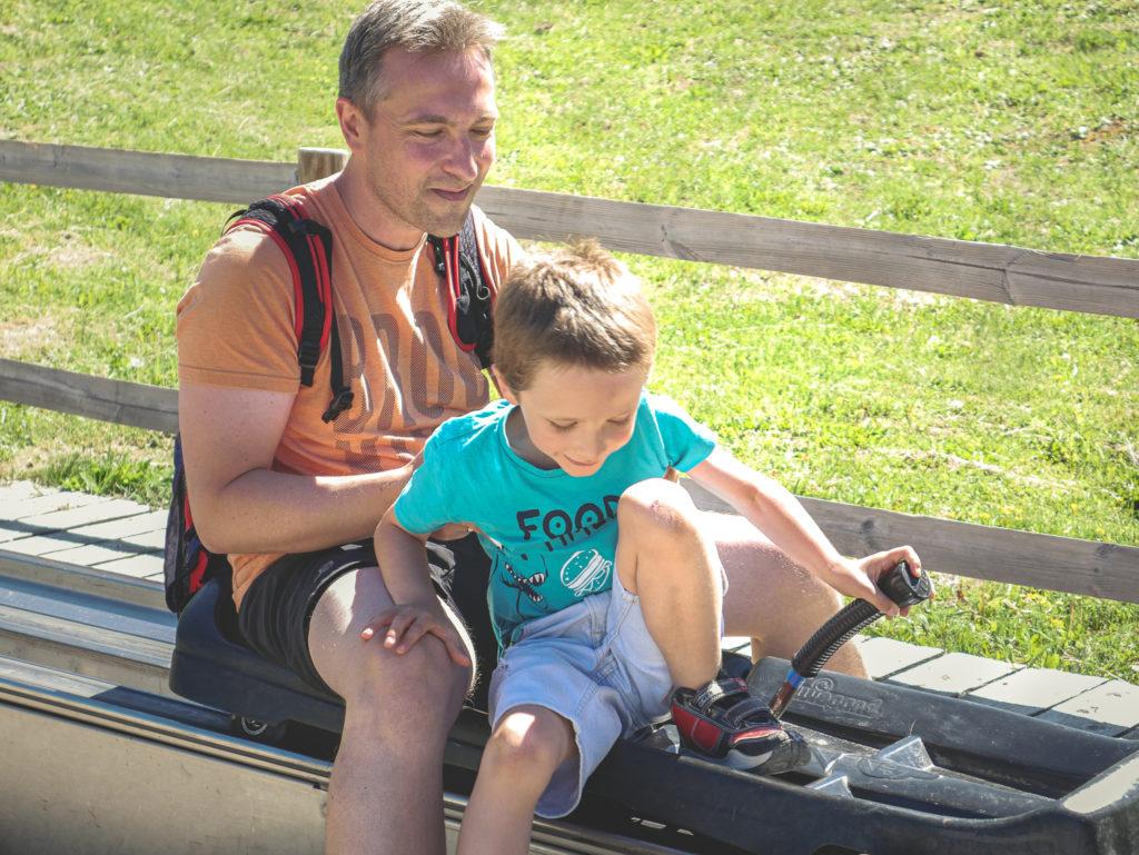 Sortie en famille: luge d'été de Semnoz