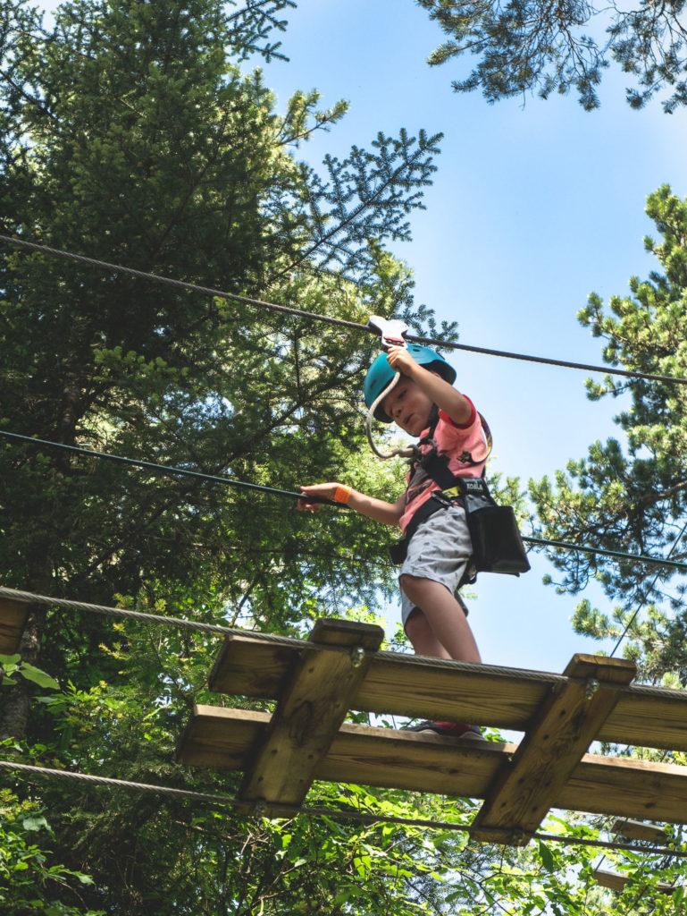accrobranche à talloires lac d'Annecy activités à faire en famille