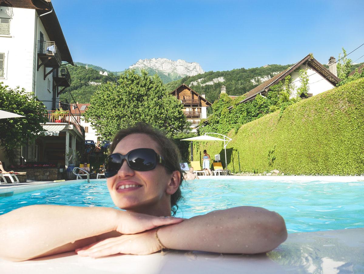 Vacances à l'hôtel du lac à Talloires