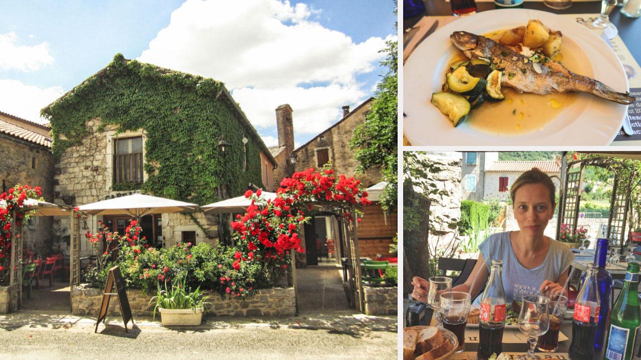 restaurant sainte eulalie de cernon route des templiers en Larzac