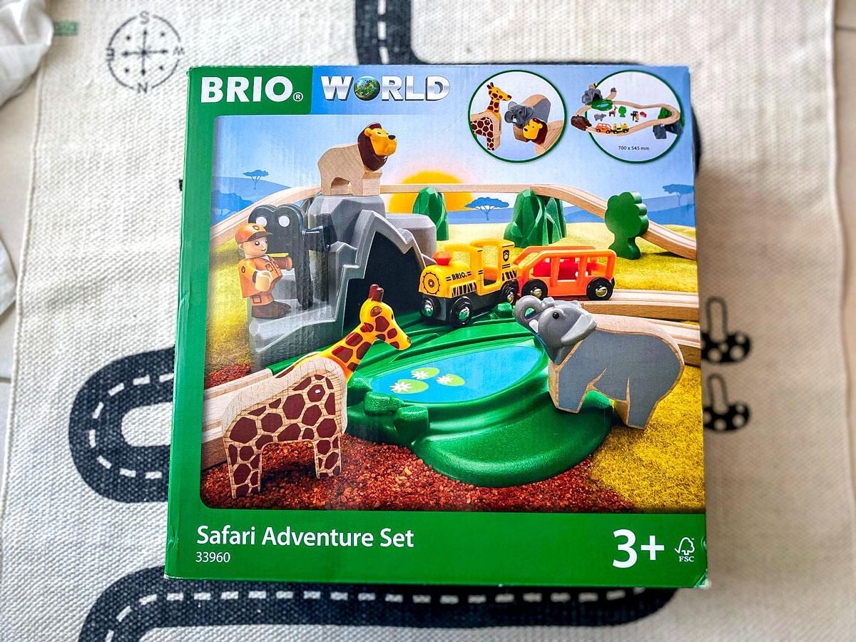 Circuit reportage safari Brio jouet en bois thème animaux