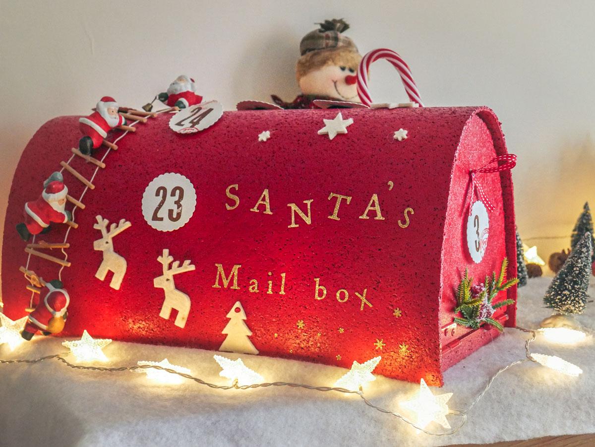 DIY la boîte aux lettres du Père Noël DIY Santa's mailbox