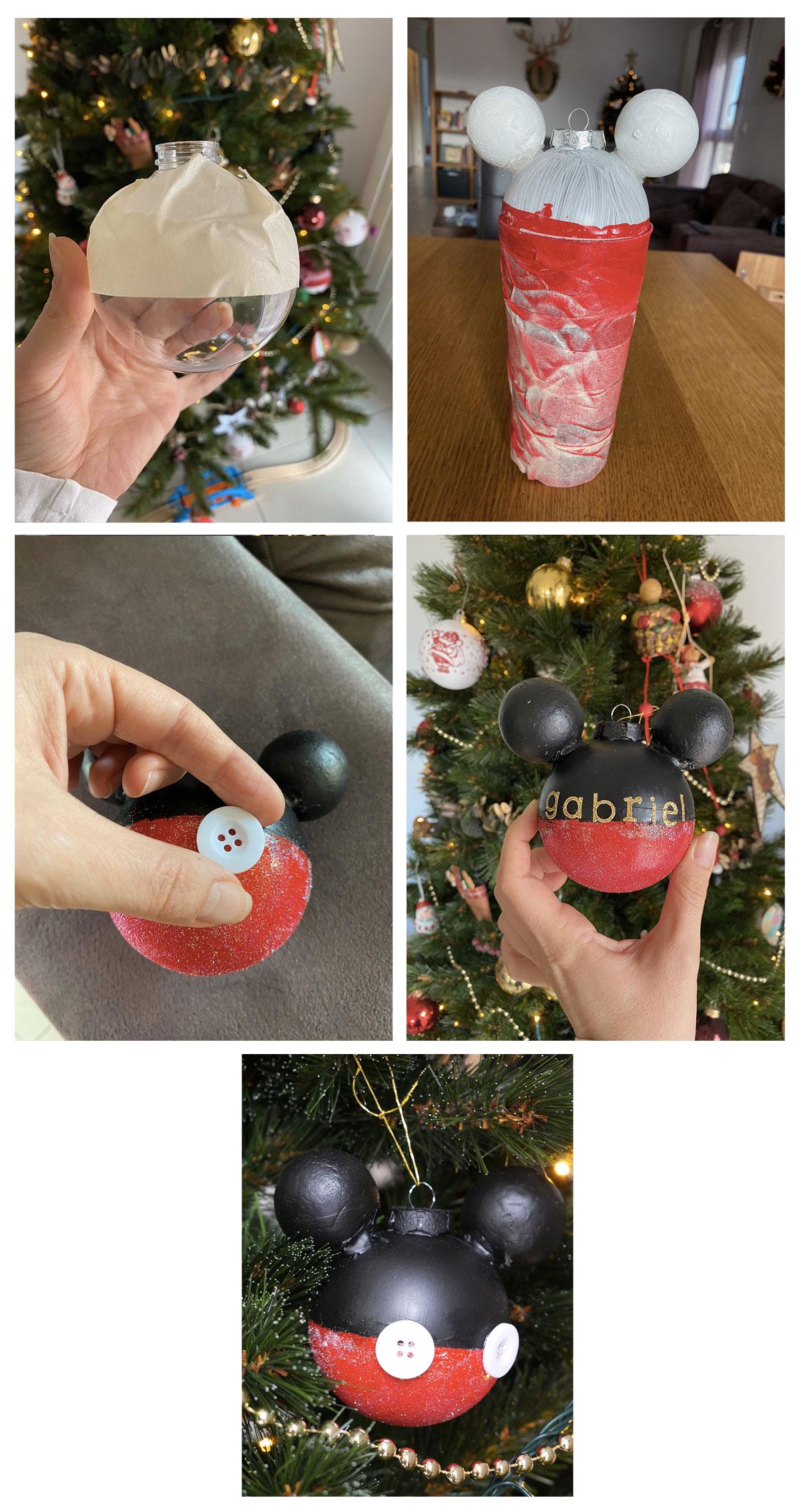 DIY comment créer une boule de Noël Disney Mickey Mouse