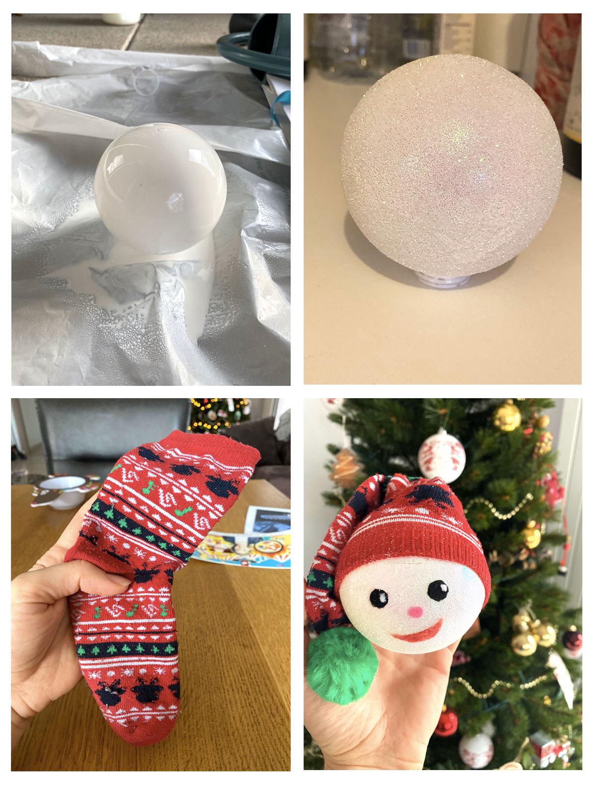 DIY comment créer une boule de Noël petit lutin