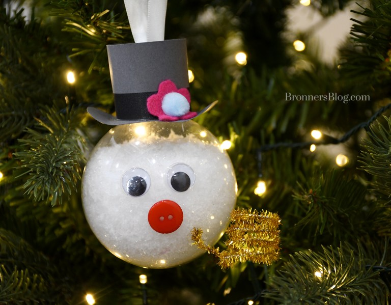 DIY boule de Noël bonhomme de neige
