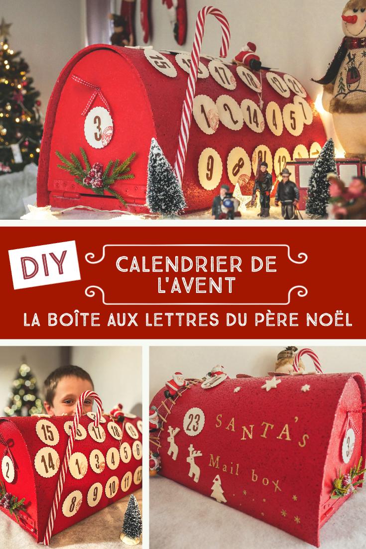 Tuto pour fabriquer un calendrier de l'Avent boîte aux lettres du Père Noël