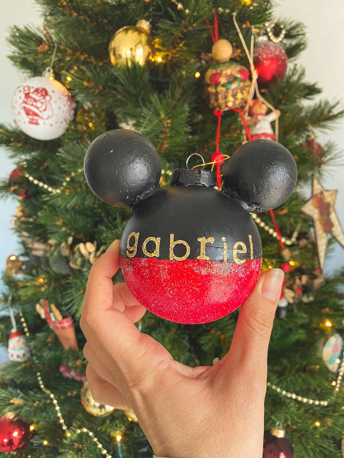Boule de Noël Mickey fait maison