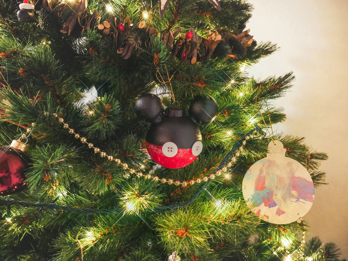 Tuto boule de Noël Mickey fait maison