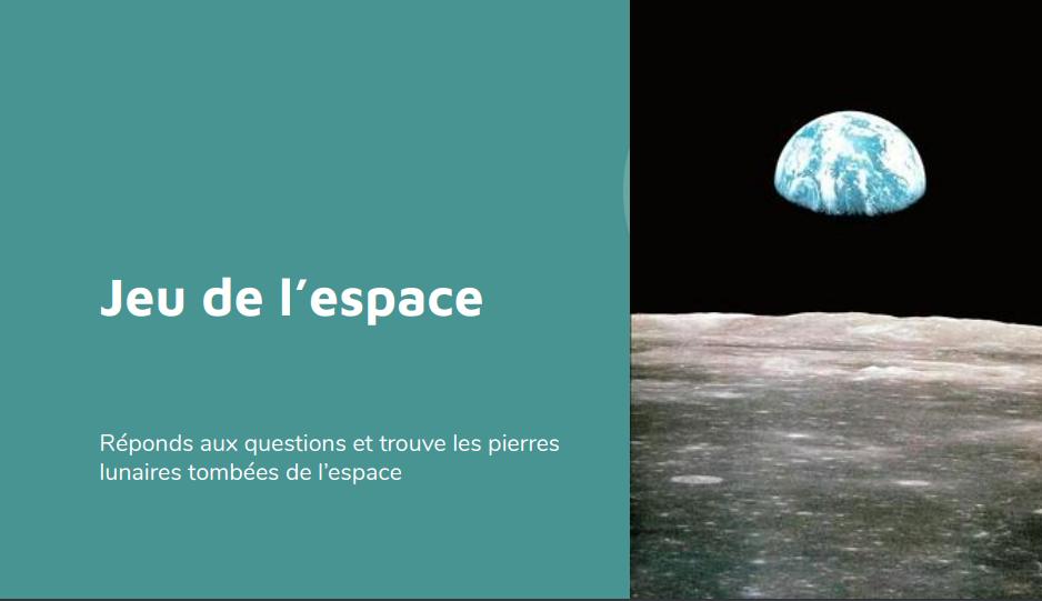 Jeu de piste sur le thème de l'espace et la lune