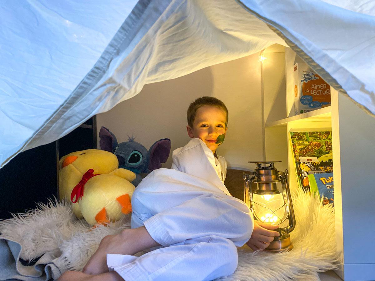 idée pour faire sa cabane de lecture à la maison