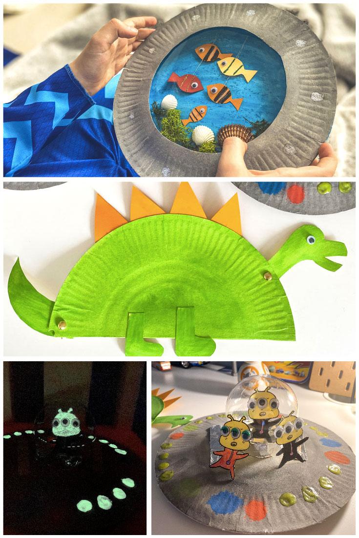 Idée activités pour enfants les créations faites avec assiettes en papier