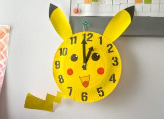 Fabriquer une horloge maison Pikachu pour apprendre à lire l'heure