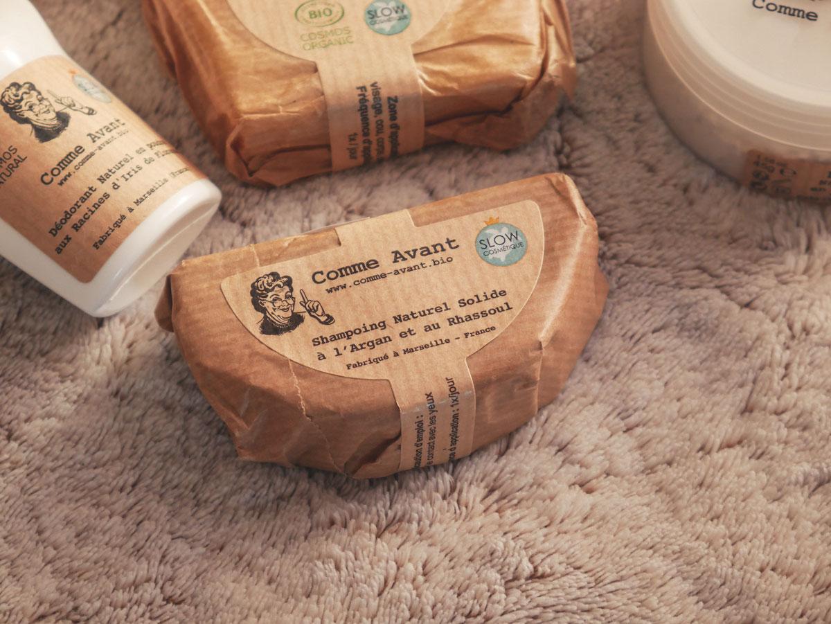 Avis sur le shampooing solide naturel au rhassoul de Comme Avant