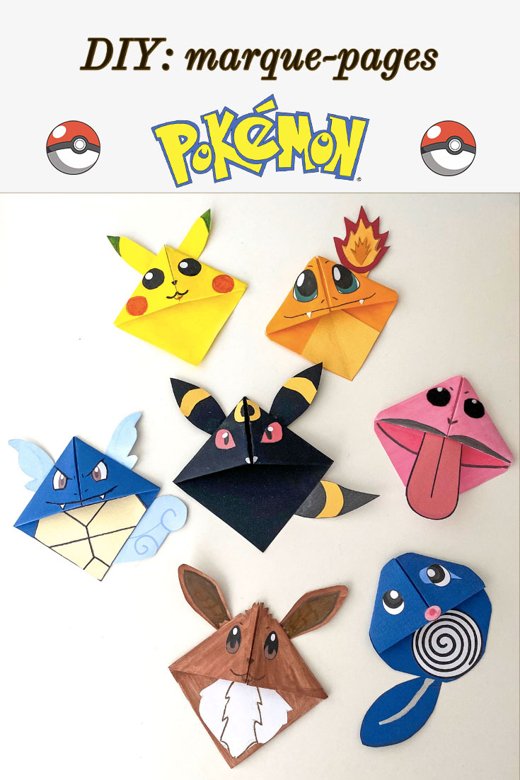 Activité manuelle pour enfant Pokémon avec les marque-pages rigolo