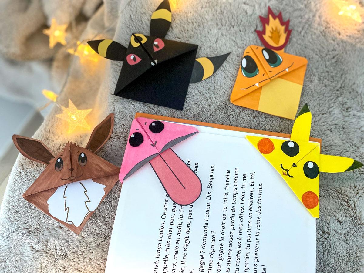 DIY marque-pages sur le thème des Pokemon