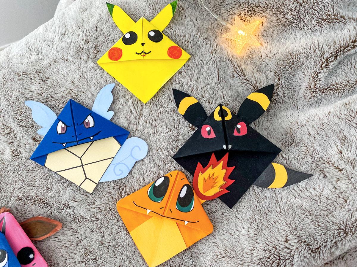 Tuto créer des marque-pages Pokemon