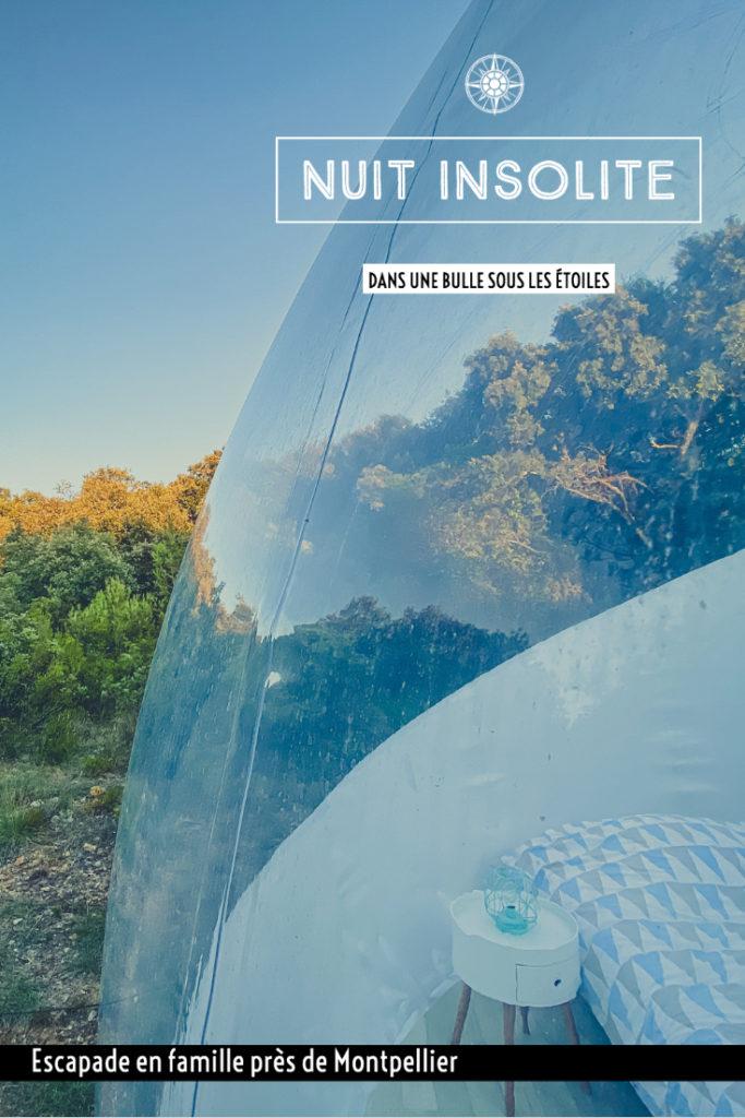 Nuit en famille dans une bulle panoramique à l'Astronarium d'Aniane Occitanie