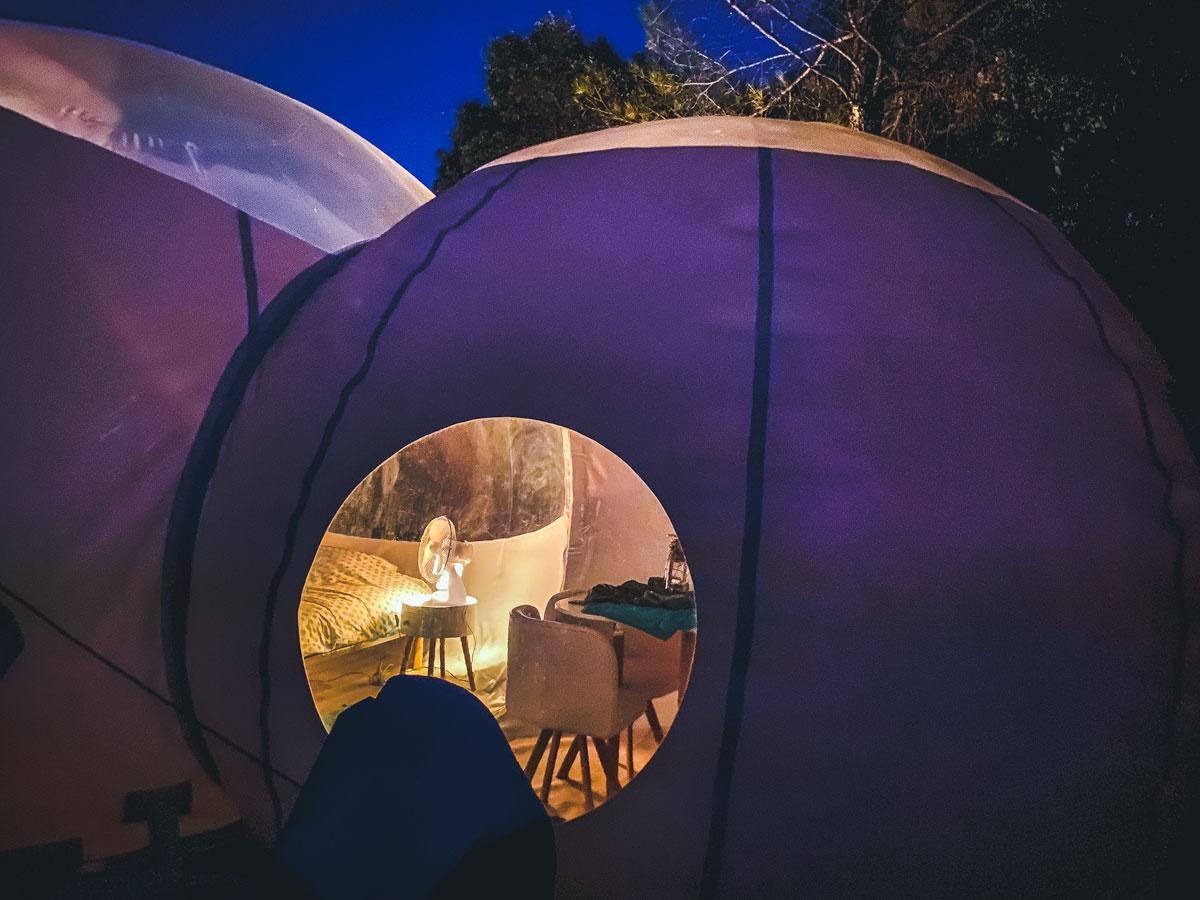 Nuit dans une bulle à Aniane