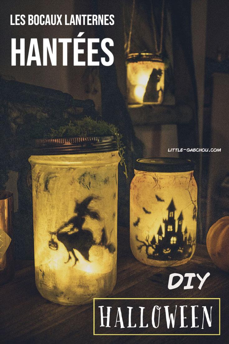 Tuto pour créer des lanternes bocaux féériques ensorcelées version Halloween