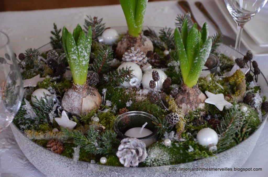 Décorations de Noël avec des éléments naturels