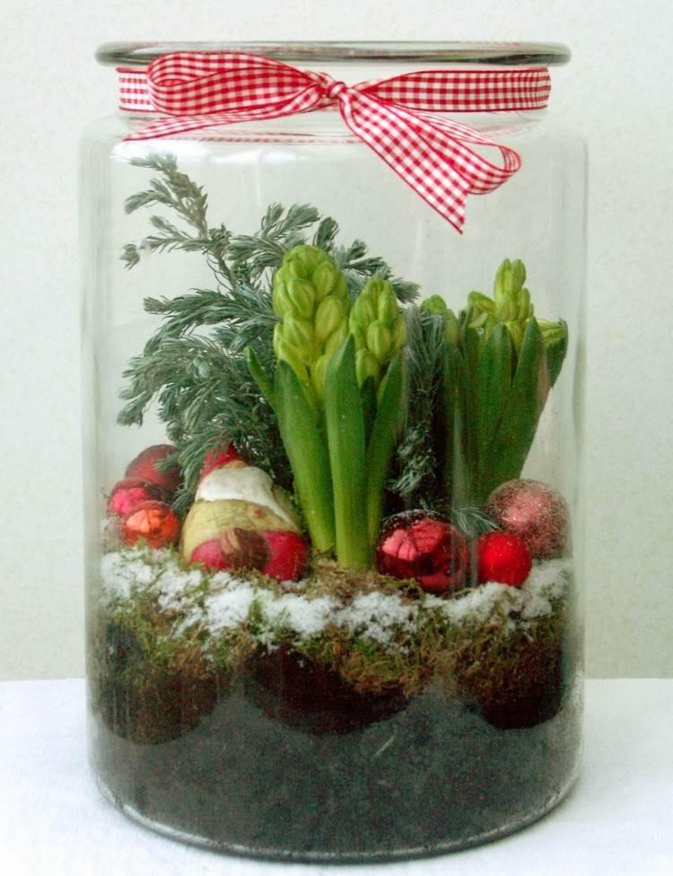 Idée de décoration, le terrarium de Noël